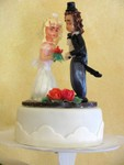 Brautpaar aus Seidenzucker