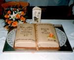 Hochzeitstorte als Buch