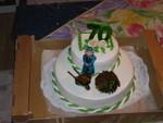 Torte mit Marzipanverzierung